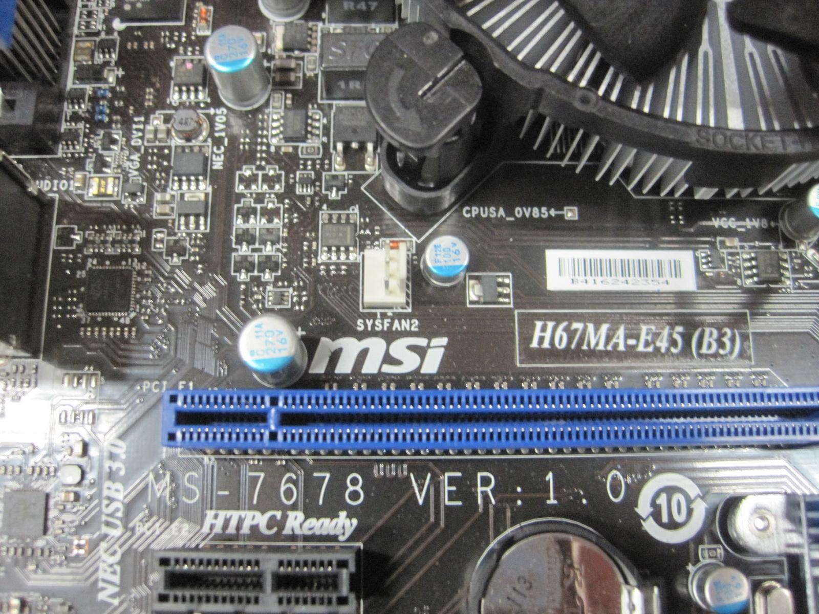 msi h67ma e45 b3 manual